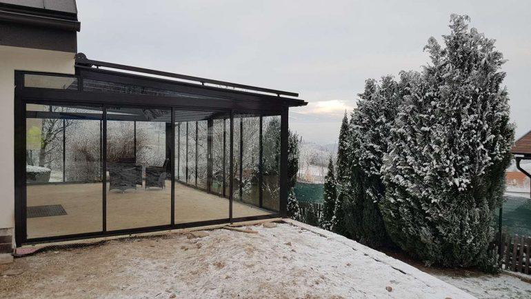 Hliníková zimná záhrada s krásnym výhľadom