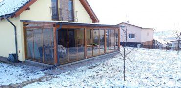 Drevená zimná záhrada na Spiši