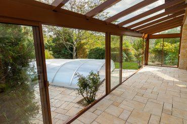 Hliníková zimná záhrada s bezpečnostnými sklami