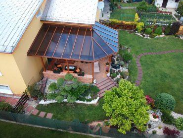 Hliníková terasa s lexanom